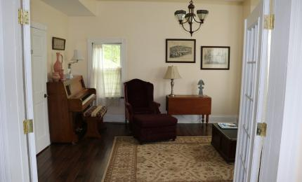 View of sitting parlor from Garden Room